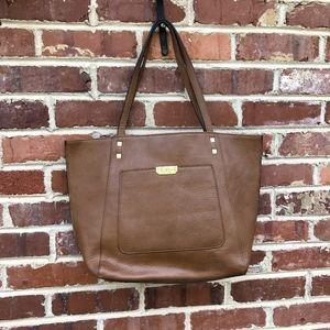 Nicole Miller New York Brown Tote Bag Handbag